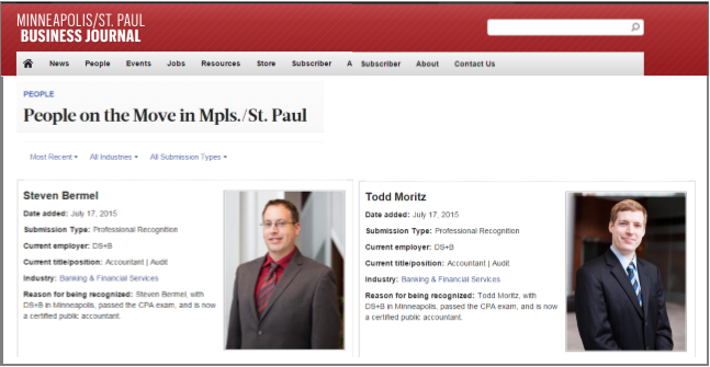 People on the Move - St Paul CPA Firm