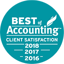 Best Accounting client satisfaction 2016, 2017, 2018