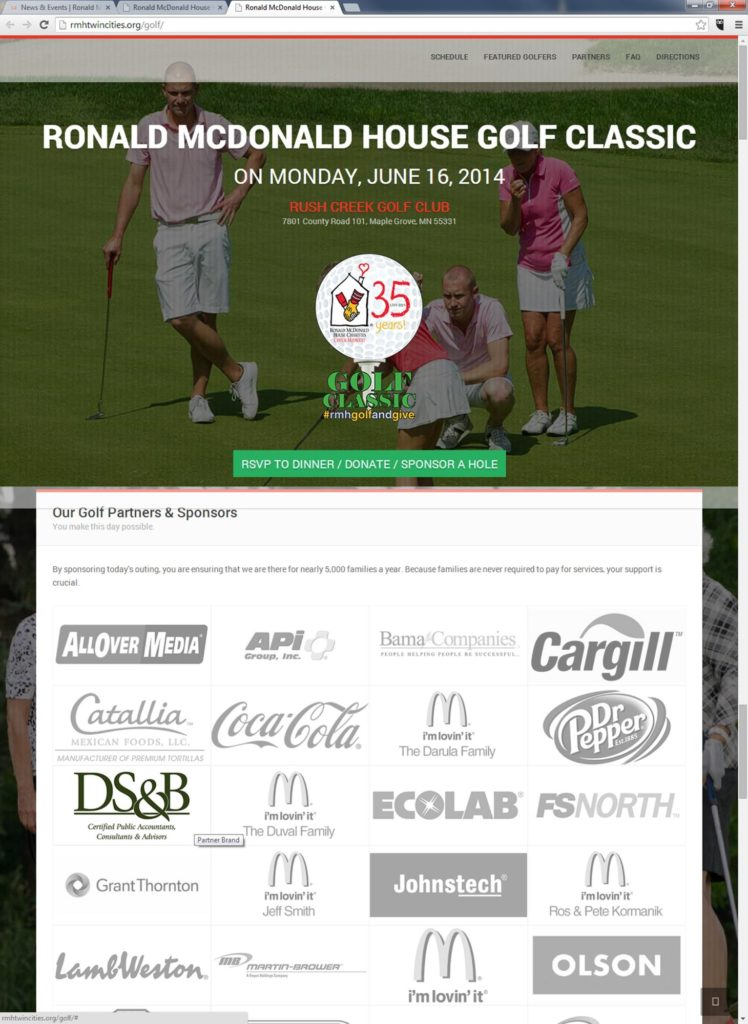 Ronald McDonald Golf Classic - Minneapolis CPA Firm