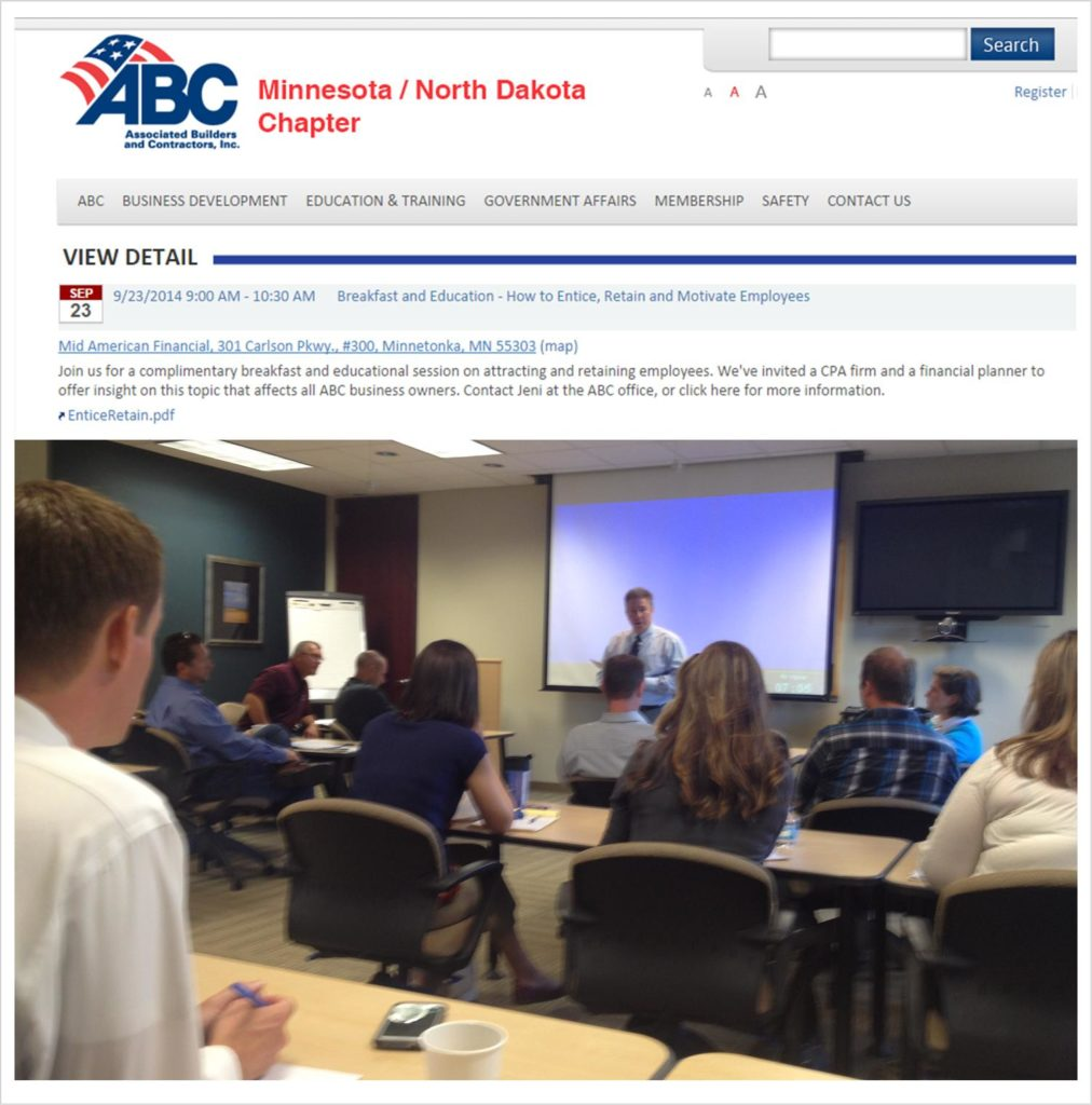 DS+B Presents to Construction and Contracting Business